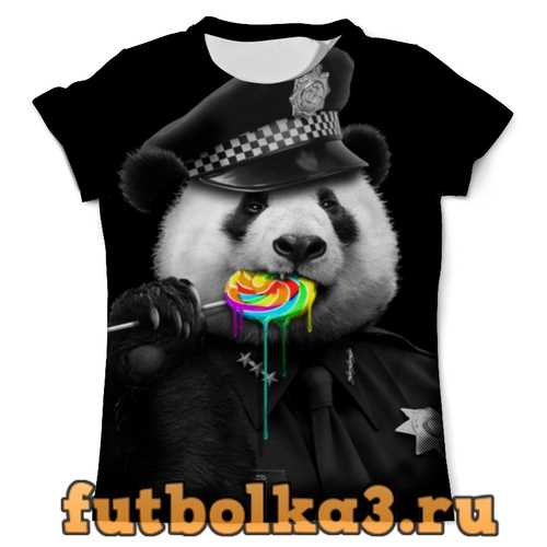 Футболка Панда Коп мужская