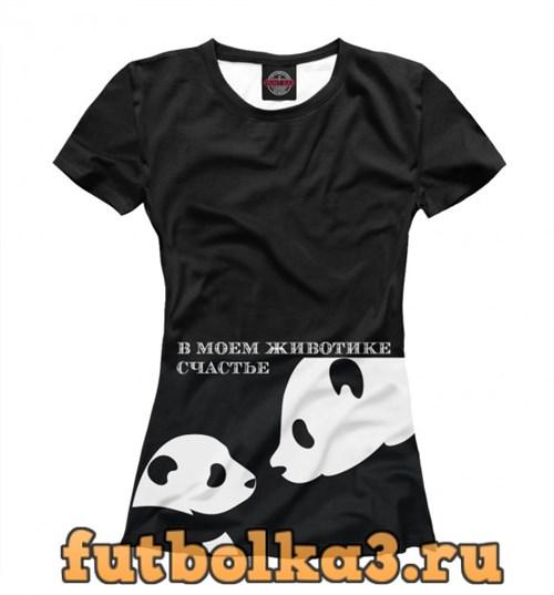 Футболка Панда мама и малыш женская