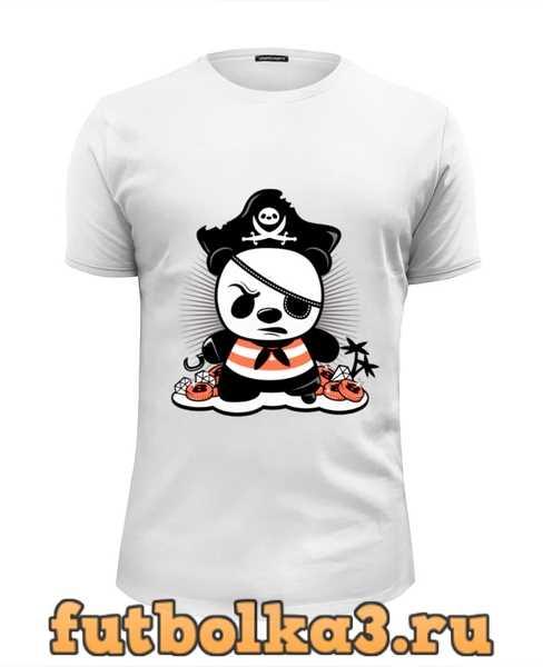 Футболка Панда пират мужская