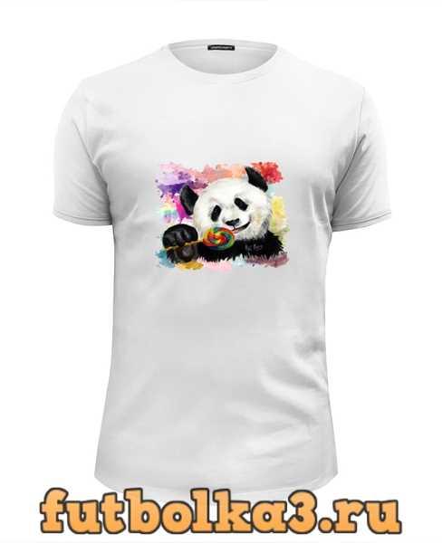 Футболка Панда с леденцом мужская