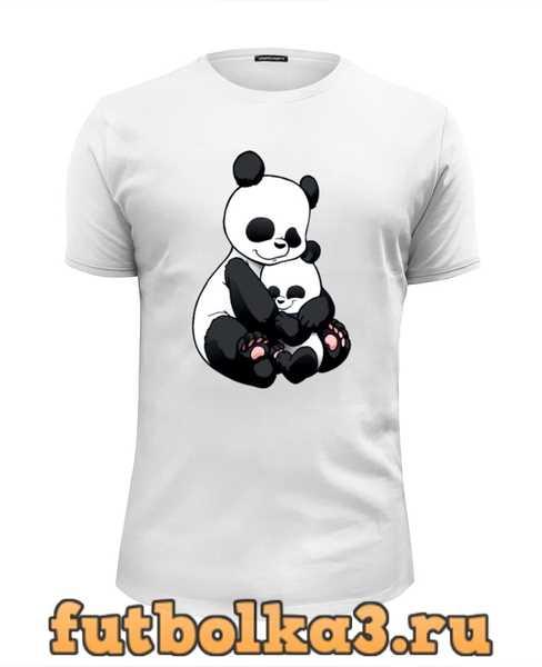 Футболка Панда с малышом мужская