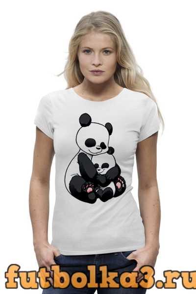 Футболка Панда с малышом женская