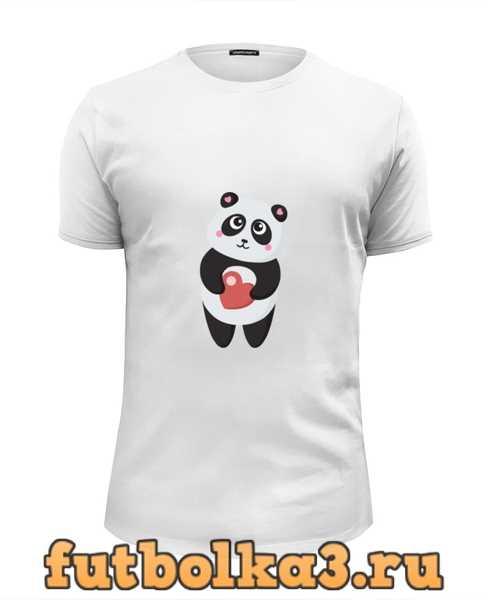 Футболка Панда с сердечком мужская