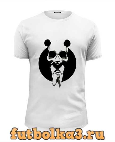 Футболка Панда в костюме мужская