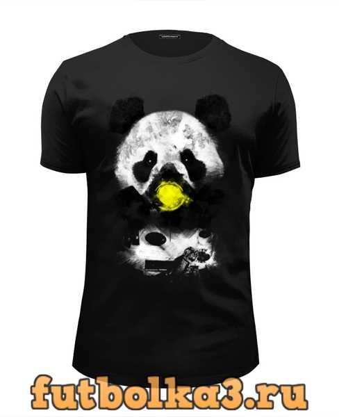 Футболка Панда в маске мужская