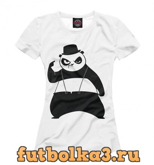 Футболка Панда в шляпе женская