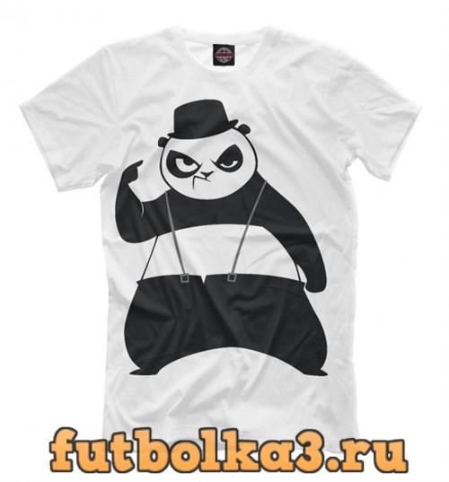 Футболка Панда в шляпе мужская