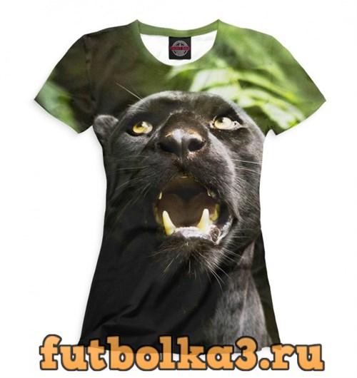 Футболка Пантера в джунглях женская