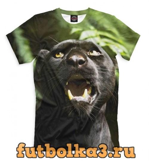 Футболка Пантера в джунглях мужская