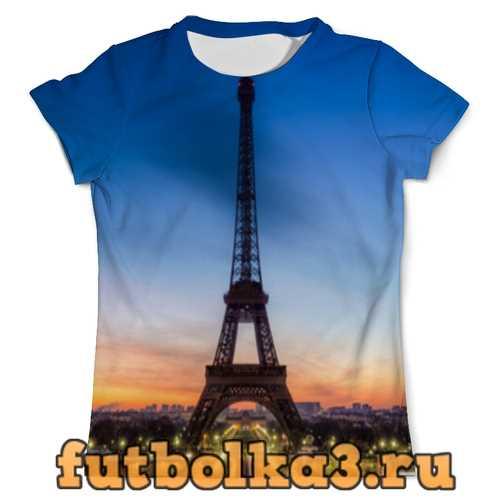 Футболка Париж эйфлева башня мужская