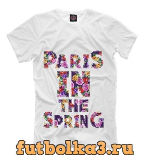 Футболка Париж весной мужская