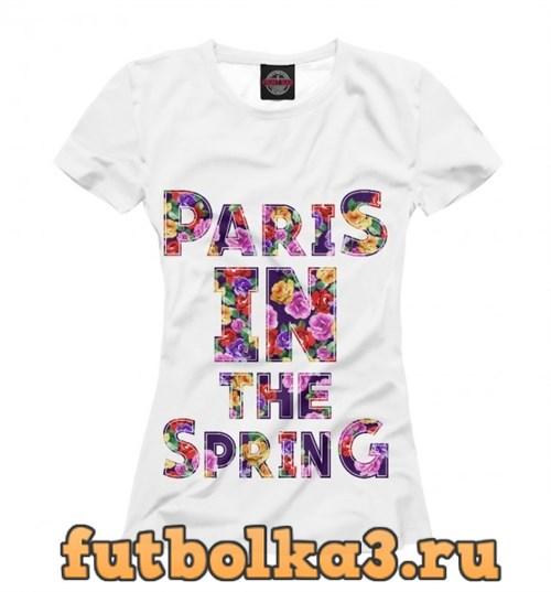 Футболка Париж весной женская