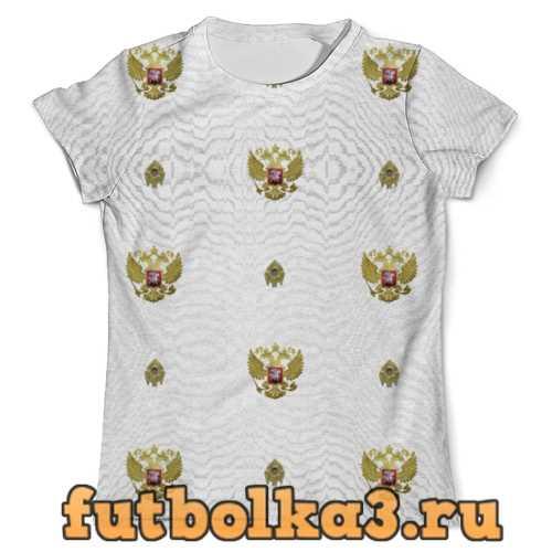 Футболка Патриотическая православная. Белая мужская