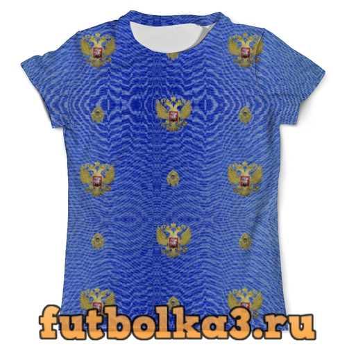 Футболка Патриотическая православная. Синяя мужская