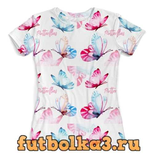 Футболка Паттерн бабочки женская