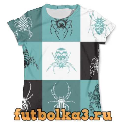 Футболка пауки мужская