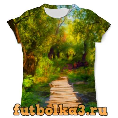 Футболка Пейзаж красками мужская