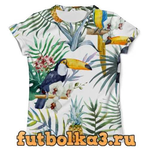 Футболка Пеликан и ананасы мужская