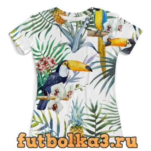 Футболка Пеликан и ананасы женская