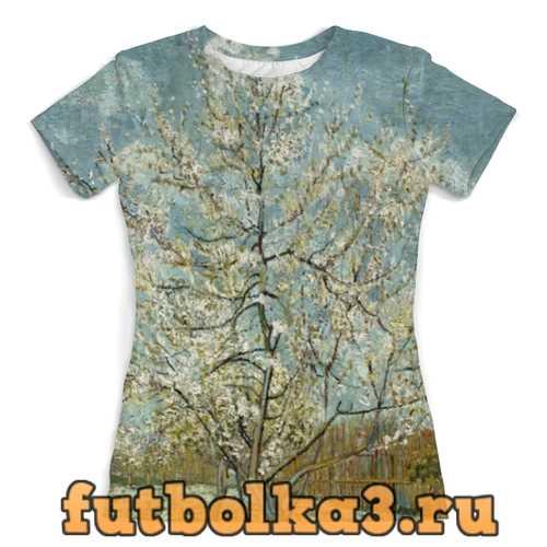 Футболка Персиковое дерево в цвету (Ван Гог) женская