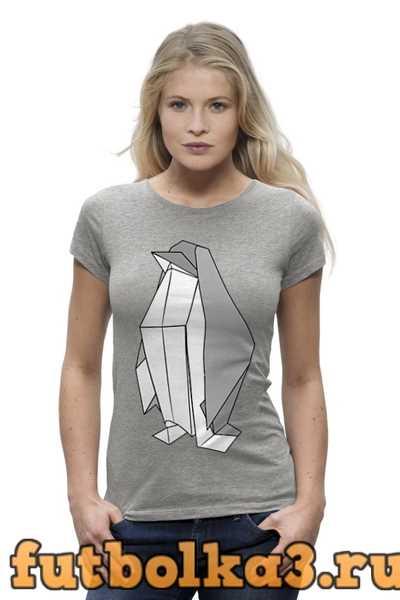 Футболка Пингвин Оригами женская