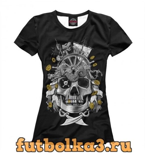 Футболка Пиратский череп женская