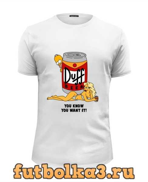 Футболка Пиво Duff мужская