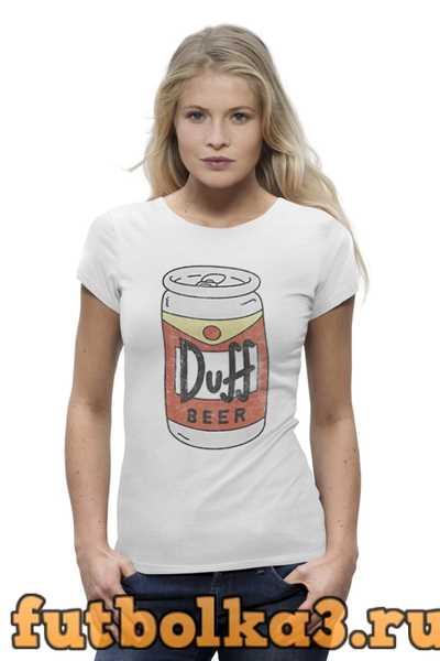 Футболка Пиво Duff женская