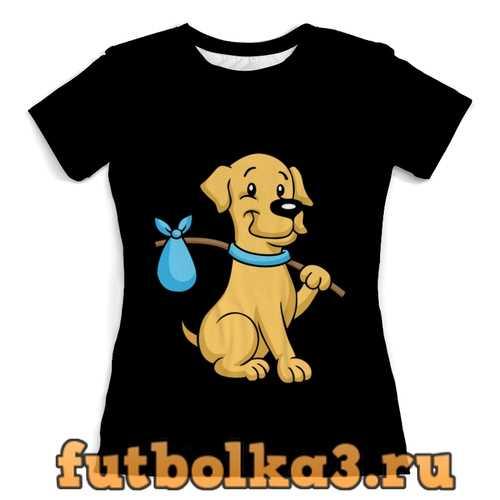 Футболка Пёс-бродяга женская