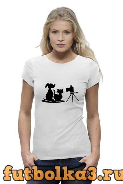 Футболка Пёс и кот женская