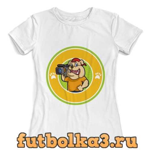 Футболка Пёс-оператор женская