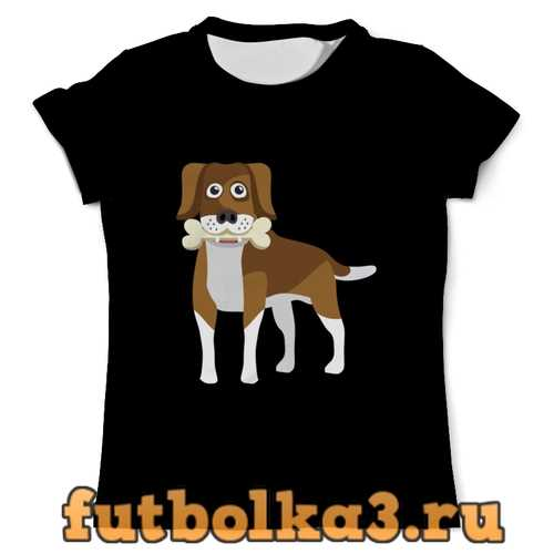 Футболка Пёс с косточкой мужская