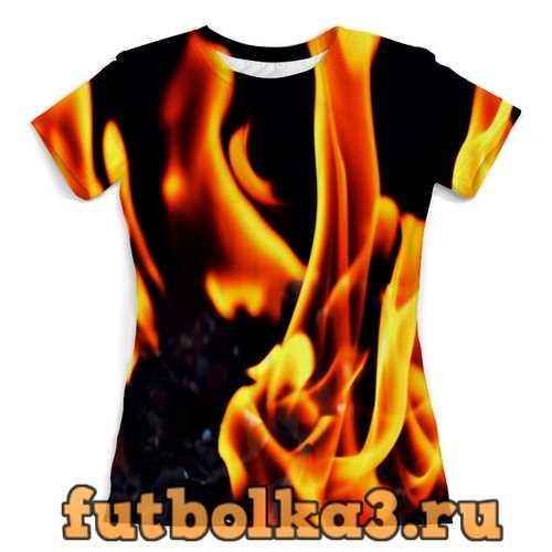 Футболка Пламя женская