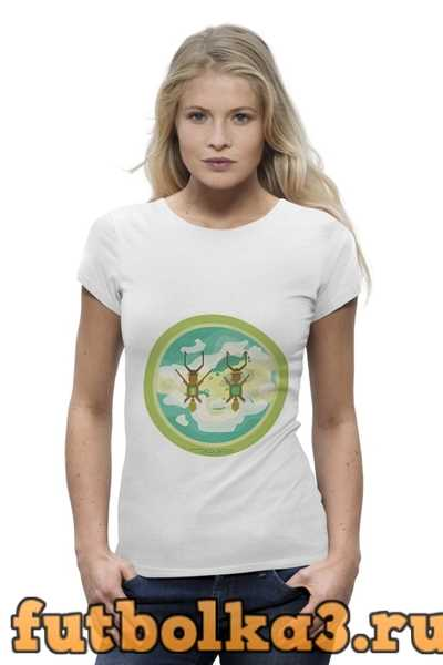 Футболка Полет над островом женская