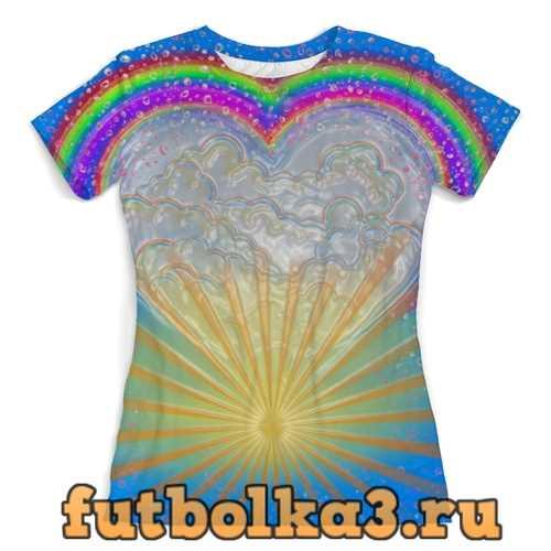 Футболка Радужные небеса. женская