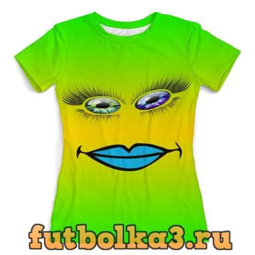 Футболка Разноцветные глаза женская