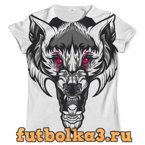 Футболка Разъярённый волк мужская
