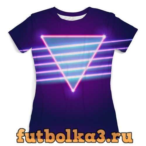 Футболка Retro neon женская