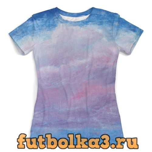 Футболка Розовое облако на небе женская
