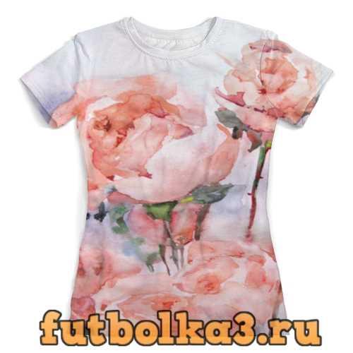 Футболка Розы. Картина женская