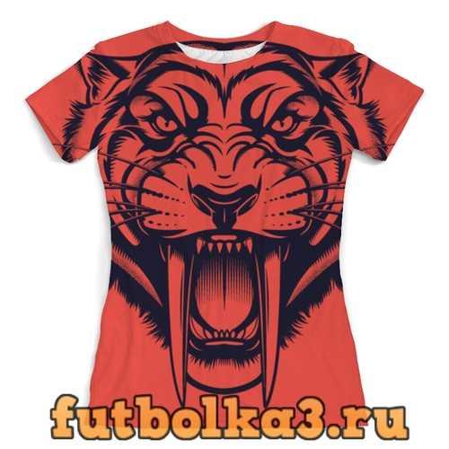 Футболка Саблезубый тигр женская