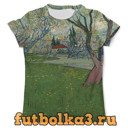 Футболка Сады в цвету, вид на Арль (Ван Гог) мужская