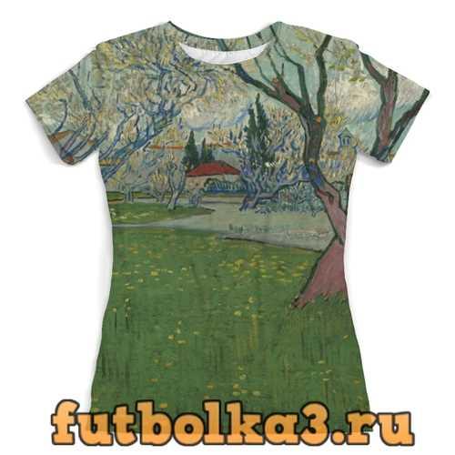 Футболка Сады в цвету, вид на Арль (Ван Гог) женская