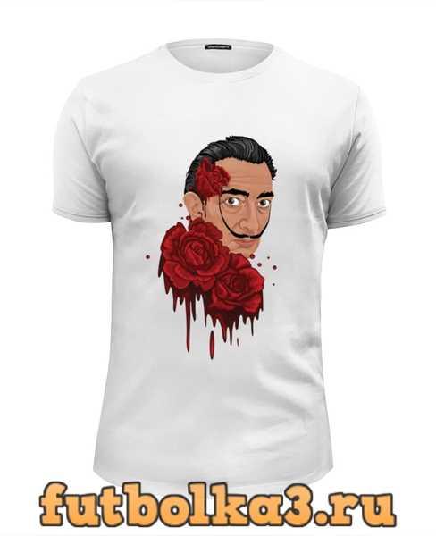 Футболка Сальвадор Дали и розы. мужская