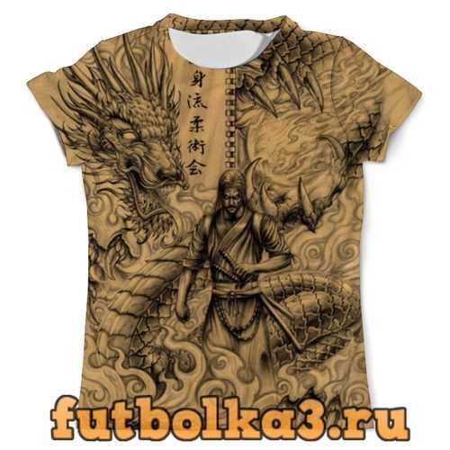 Футболка Самурай Дракон мужская