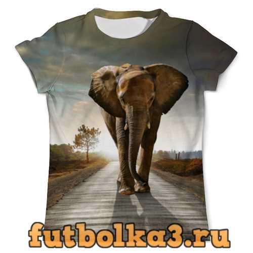 Футболка Саванный слон мужская