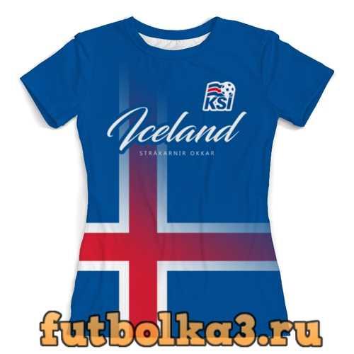 Футболка Сборная Исландии женская