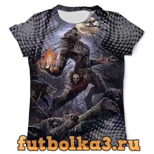Футболка Shamans Wolf Design мужская