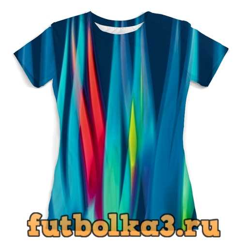 Футболка Синие линии женская