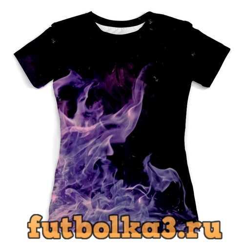 Футболка Синий огонь женская